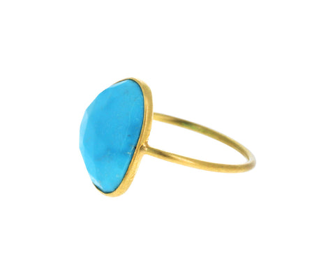 Asymmetrical Turquoise Ring