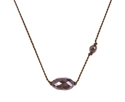 Brown Diamond Bead Necklace - TWISTonline