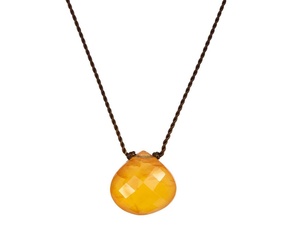 Light Carnelian Drop Necklace  zoom 1margaret_solow_carnelian_necklace