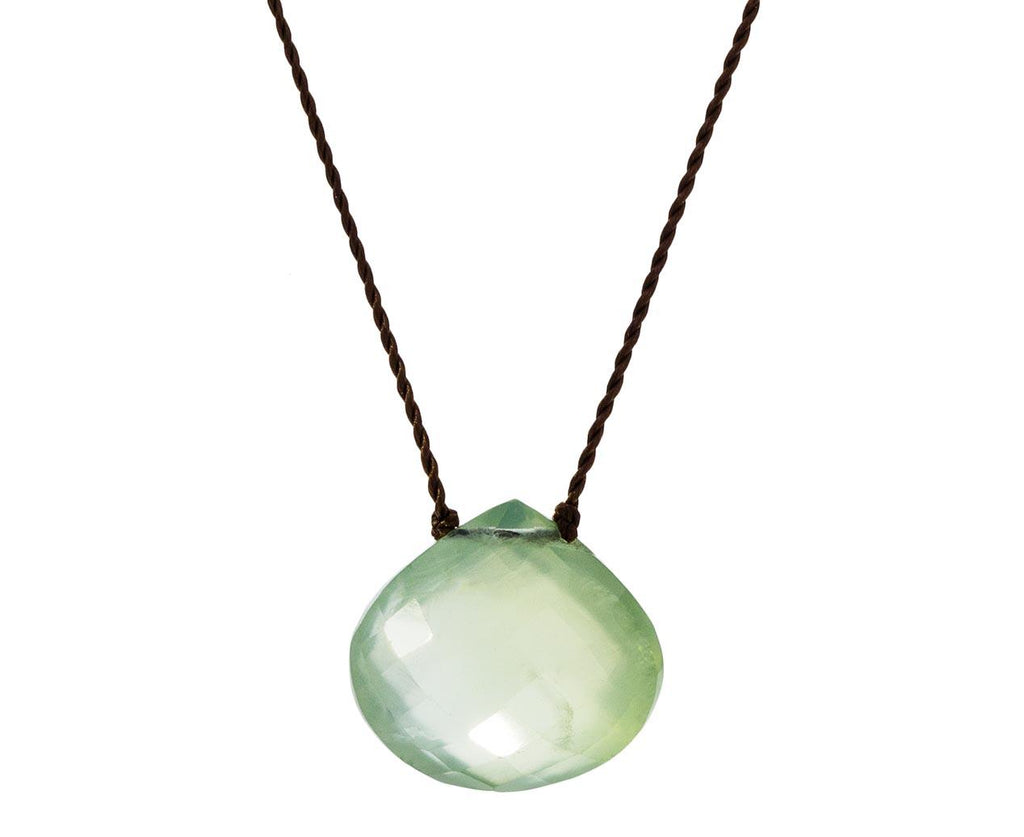 Faceted Prehnite Drop Necklace zoom 1_margaret_solow_faceted_prehnite_necklace