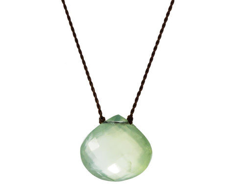 Faceted Prehnite Drop Necklace - TWISTonline