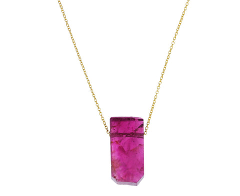 Dark Pink Tourmaline Necklace