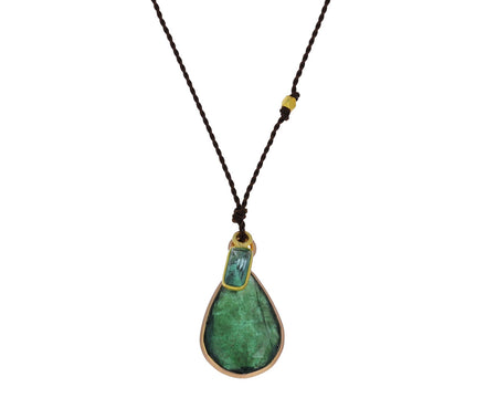 Double Emerald Pendant Necklace