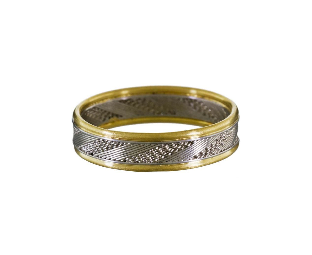 Gold and Platinum Sun and Moon Men's Band zoom 1-nikolle-radi-ring