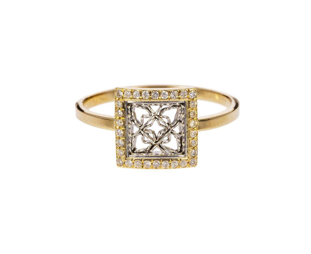 Square Diamond Damask Ring - TWISTonline