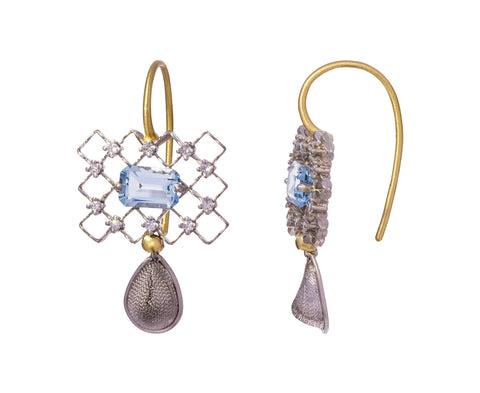 Aquamarine and Diamond Breezy Earrings - TWISTonline