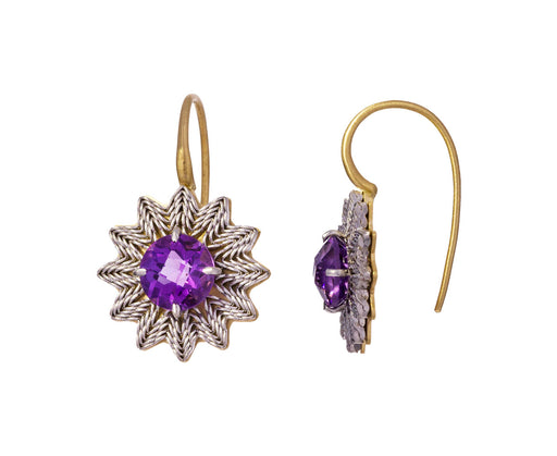 Amethyst Flower Earrings - TWISTonline