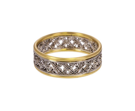 Platinum Gold Damask Flow Ring - TWISTonline