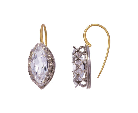 Lacy White Topaz Marquise Earrings - TWISTonline