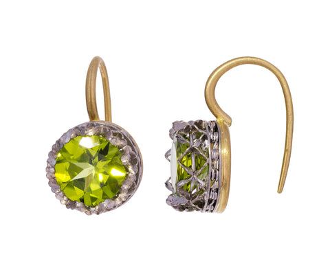 Round Peridot Lacy Earrings - TWISTonline