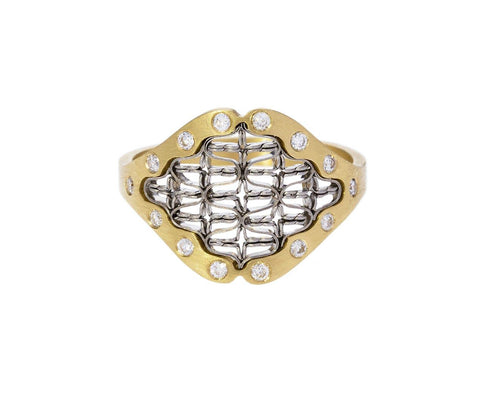 Small Tune Ring with Diamonds - TWISTonline