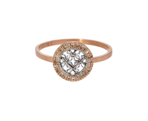 Champagne Diamond Round Damask Ring - TWISTonline