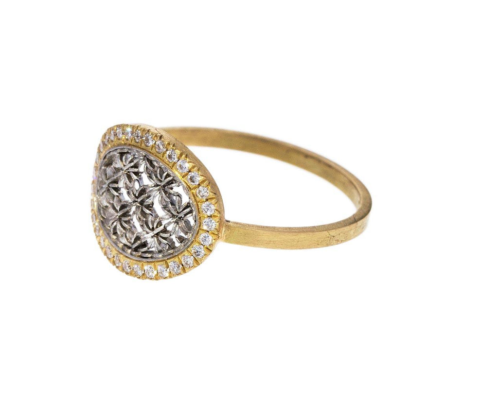 Diamond Oval Damask Ring - TWISTonline