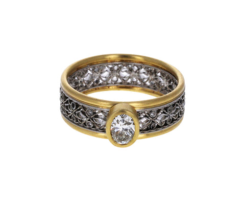 Oval Diamond Flow XV Ring