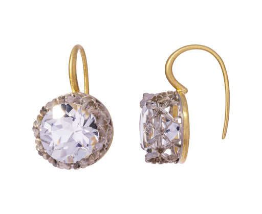 White Topaz Lacy Platinum Earrings - TWISTonline