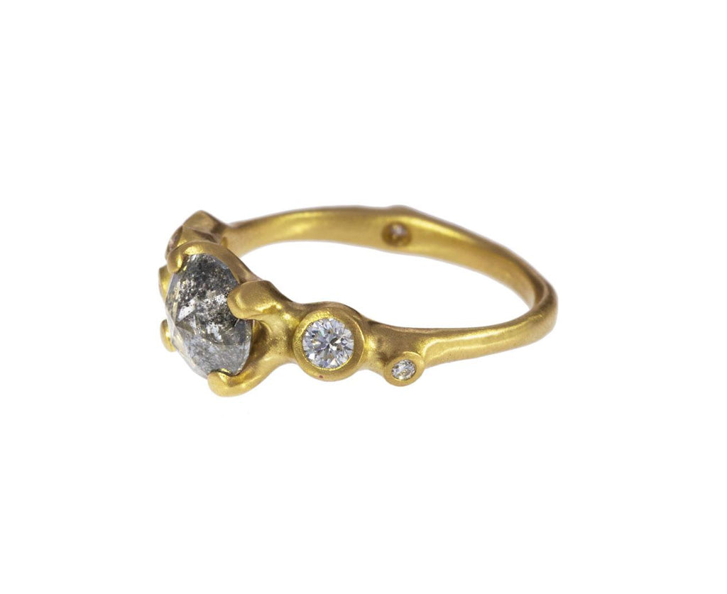 Stormy Rose Cut Diamond Cluster Ring - TWISTonline
