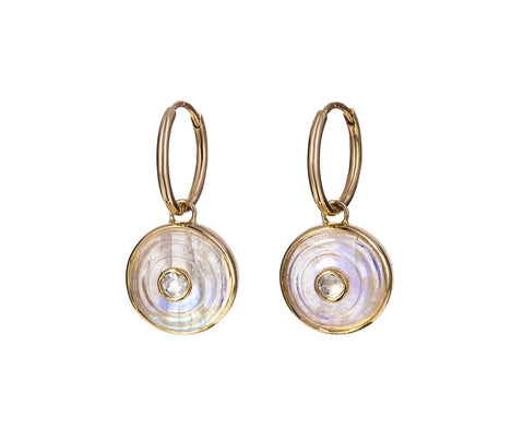 Moonstone Diamond Akasha Inle Earrings - TWISTonline