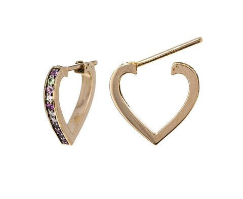 Multi-Stone Anahata Heart Earrings - TWISTonline