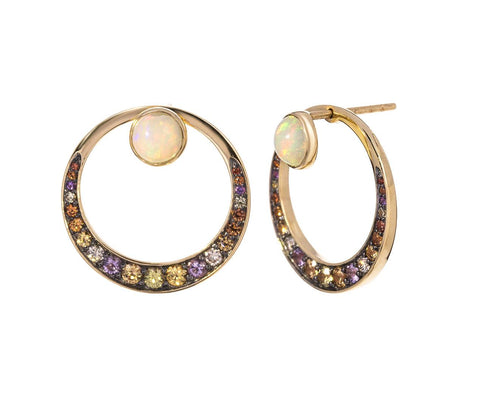 Diamond and Multi Gem Svadhisthana Earrings - TWISTonline