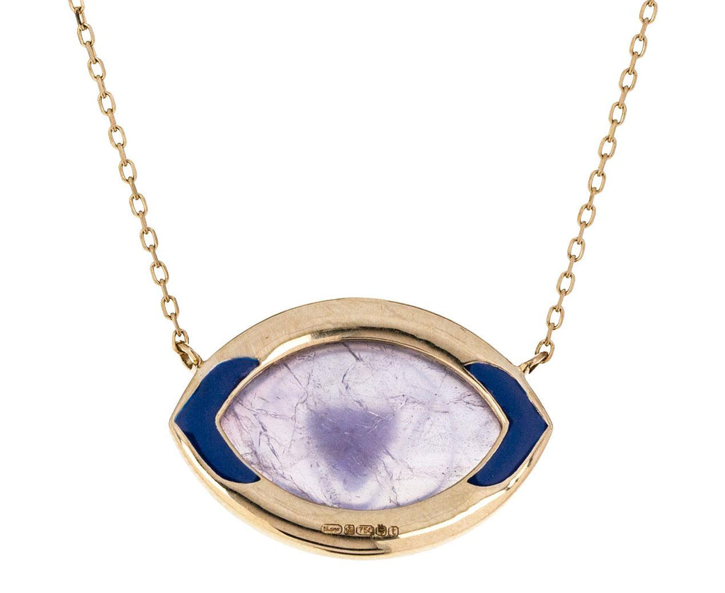 Sapphire and Crystal Ajna Pendant Necklace - TWISTonline