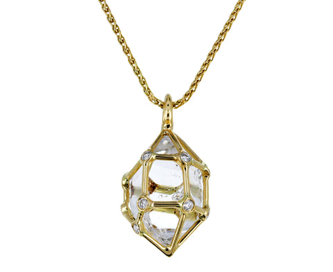 Small Herkimer Diamond Pendant Necklace