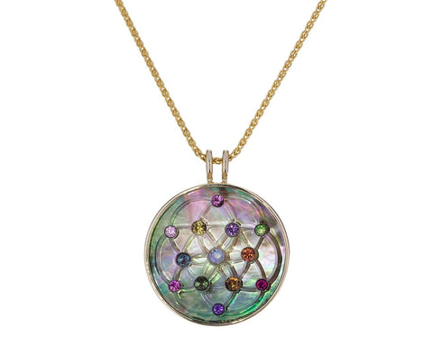 Rainbow Akasha Carved Crystal Pendant Necklace - TWISTonline