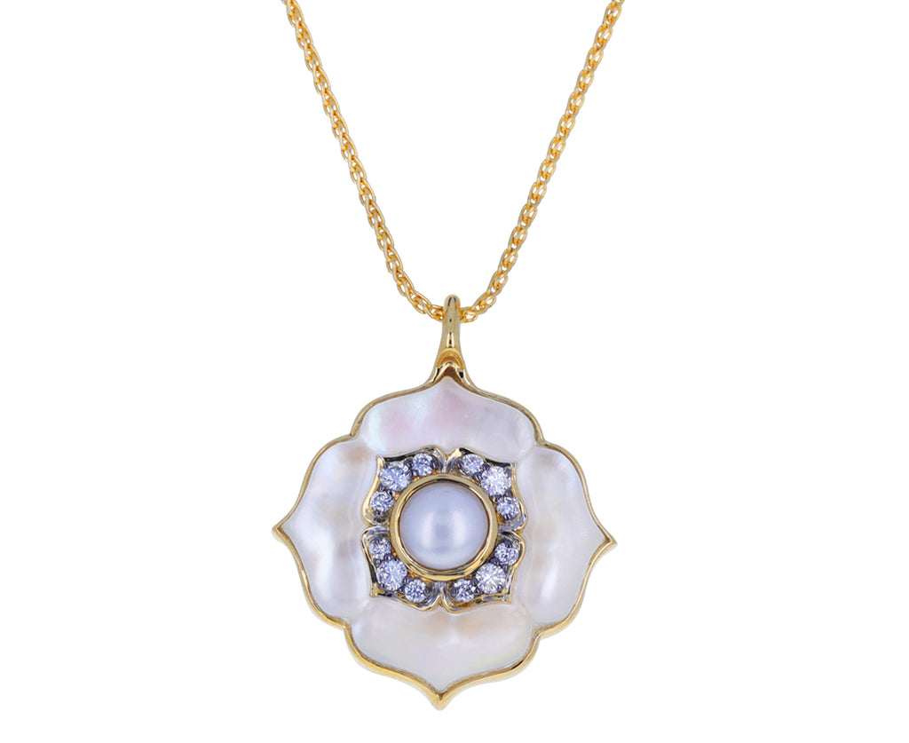 Pearl and Diamond Nirvana Necklace