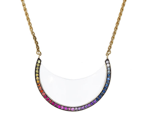 Rainbow Chandra Crystal Pendant Necklace zoom 1_noor_fares_gold_rainbow_chandra_crescent_necklac