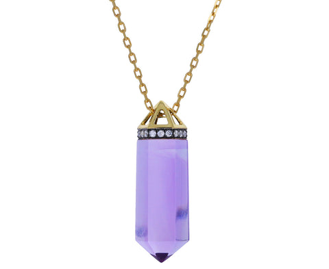 Amethyst Vara Crystal Pendant Necklace