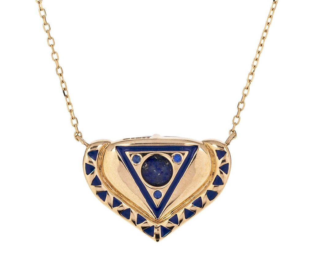 Lapis Sapphire and Diamond Vishuada Necklace - TWISTonline