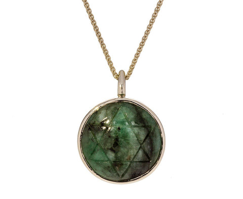 Anahata Matrix Emerald Pendant Necklace - TWISTonline