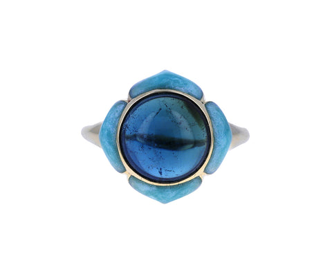 Blue Tourmaline Nirvana Ring