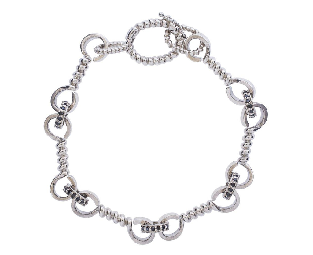 Silver Twist and Black Diamond Bracelet - TWISTonline