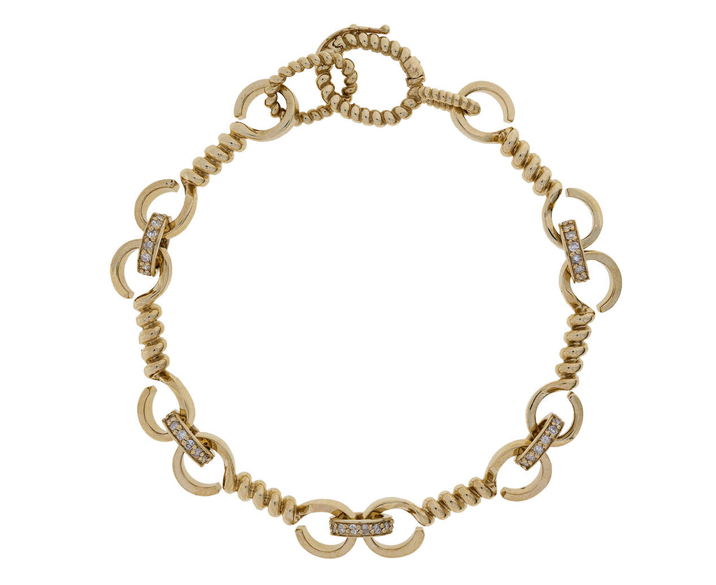 Gold Twist and Diamond Bracelet - TWISTonline