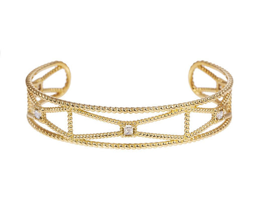 Gold and Diamond Princess Cuff Bracelet - TWISTonline