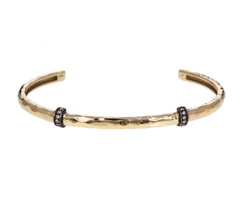Gold Cuff with Diamond Brackets - TWISTonline