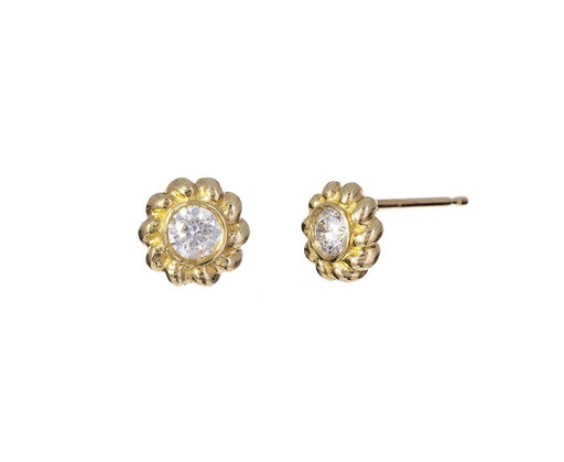 Diamond Flower Post Earrings - TWISTonline