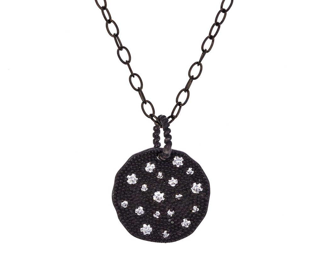 Diamond Disc Pendant Necklace - TWISTonline