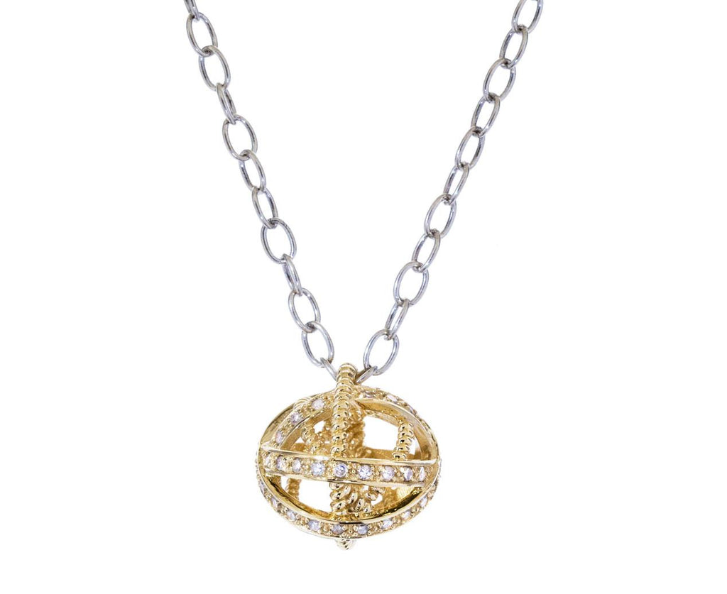 Small Diamond Ball Pendant zoom 1_nancy_newberg_gold_diamond_ball_pendant_necklace