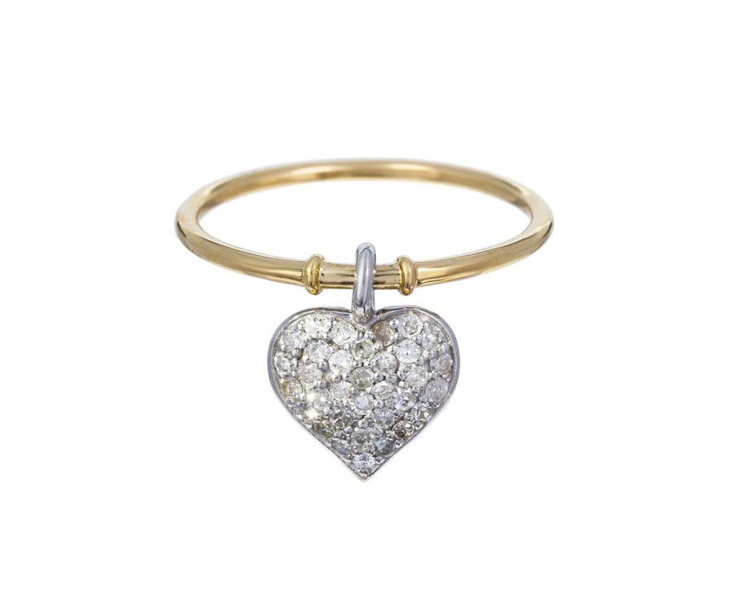 Diamond Heart Charm Ring - TWISTonline