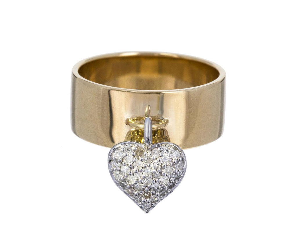 Gold Cigar and Diamond Heart Charm Cigar Band - TWISTonline