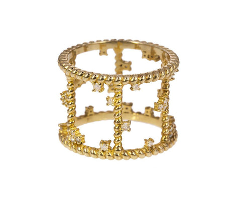 Gold Diamond Cage Ring zoom 1_nancy_newberg_gold_diamond_cage_ring