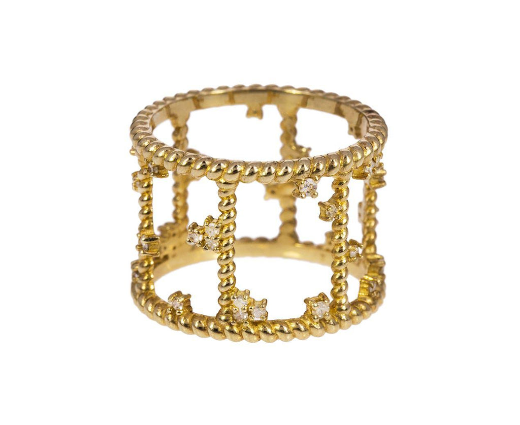 Gold Diamond Cage Ring - TWISTonline