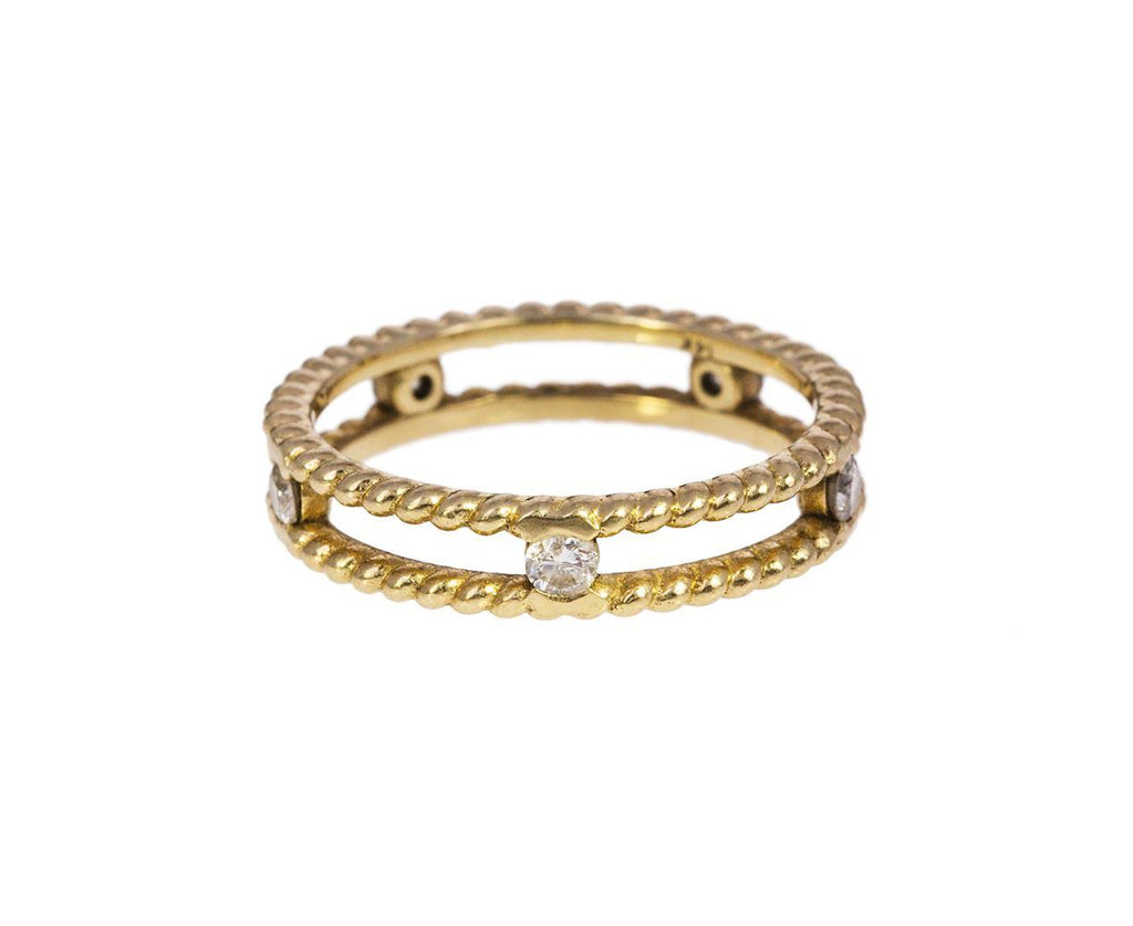 Double Twist Ring with Diamonds - TWISTonline