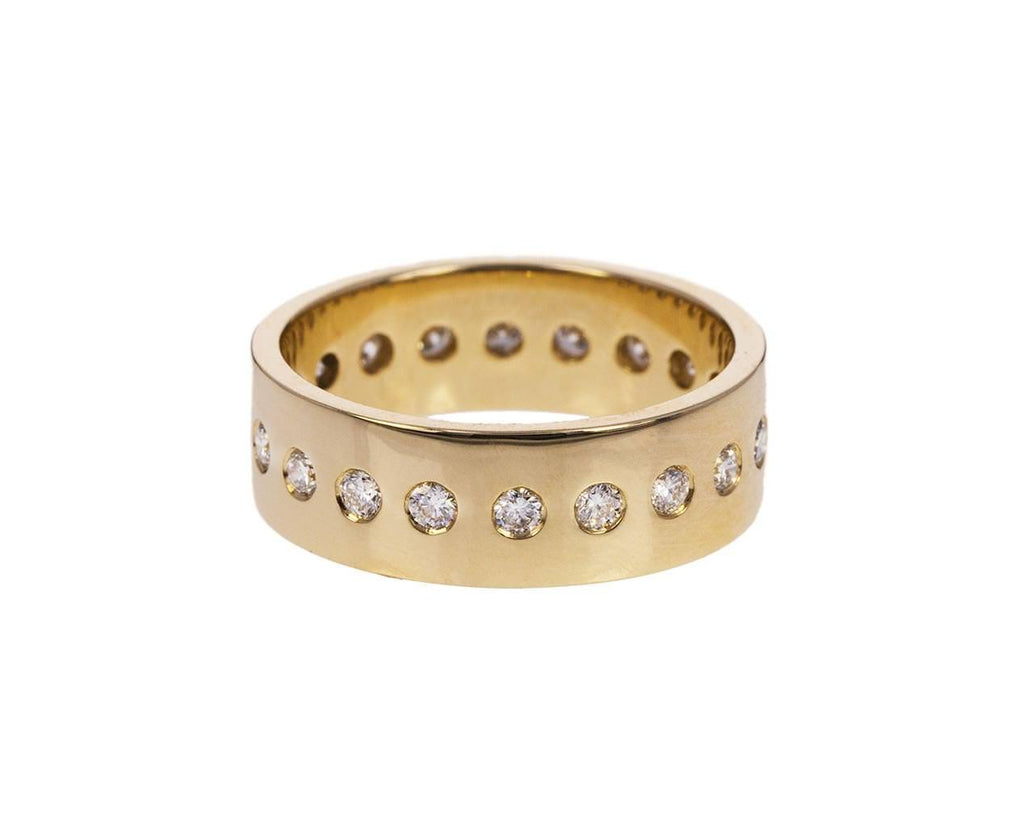 Gold Diamond Dotted Band zoom 1_nancy_newberg_gold_diamond_dotted_band_ring