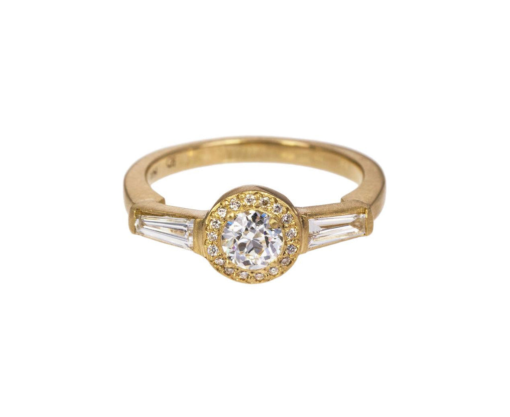 Diamond Halo Tapered Baguette Solitaire zoom 1_rebecca_overmann_gold_diamond_old_european_ring