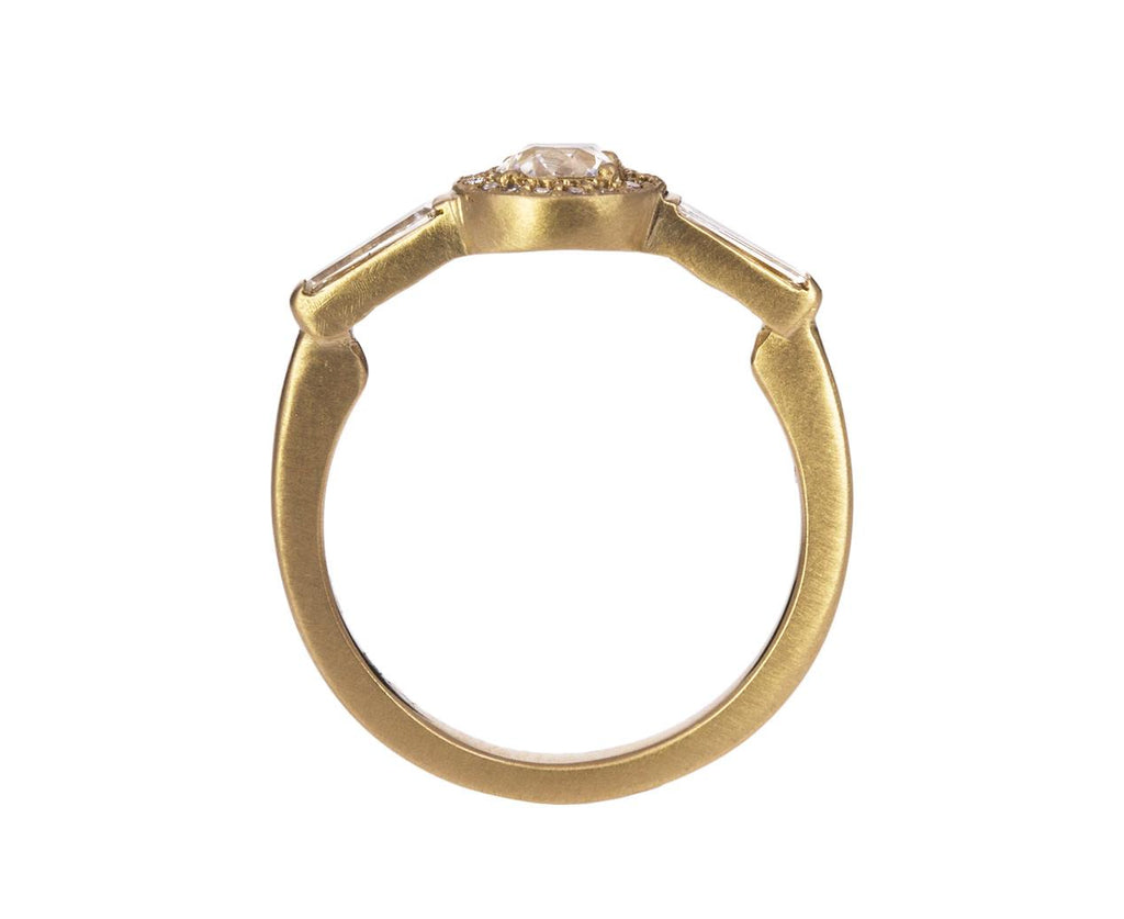Diamond Halo Tapered Baguette Solitaire - TWISTonline