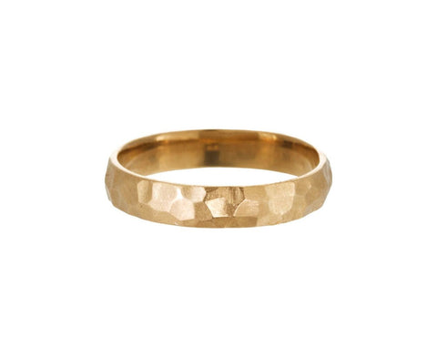 Men's Yellow Gold Hammered Band - TWISTonline