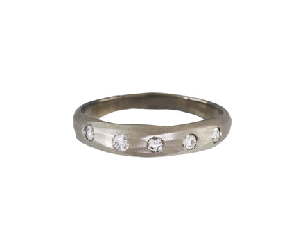 White Gold Diamond Stream Band - TWISTonline