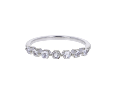 Step Cut Hexagonal Bead Ring